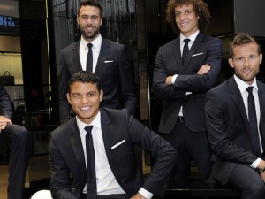 Hugo Boss, habilleur officiel du PSG football Club.